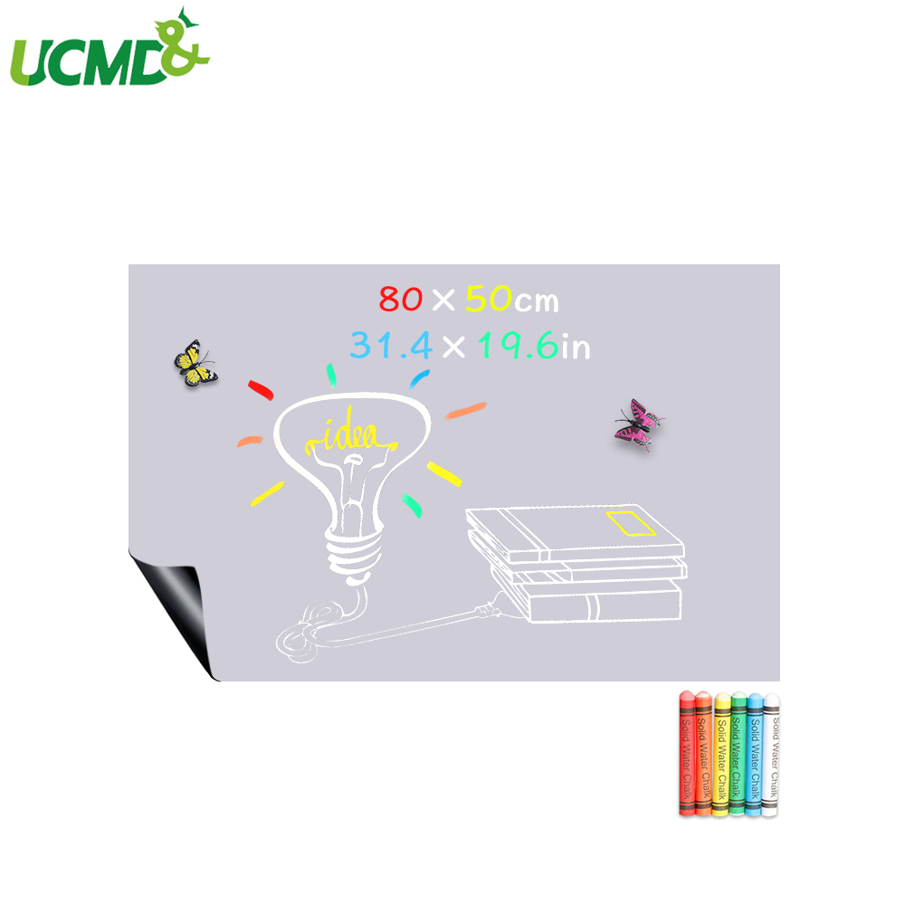 80x50CM Removable Message Blackboard Wall Stickers Writing Weekly Planner Kids Drawing Gray Board Room Office School Supplies