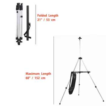 JSES Adjustable Aluminum Sketch Display Easel Stand Painting easel For Artist Art Tools Folding Easels