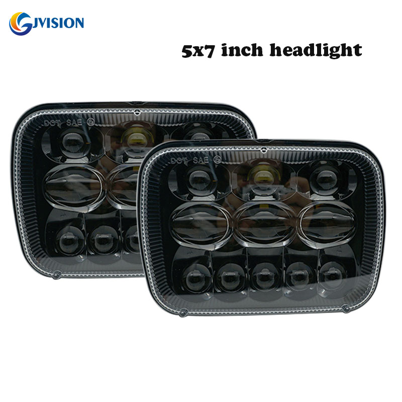 DOT 5X7 inch led headlights sealed beam for Jeep Wrangler JK Cherokee XJ YJ JKU 4x4 Toyota Tacoma pickup MR2 Headlamp