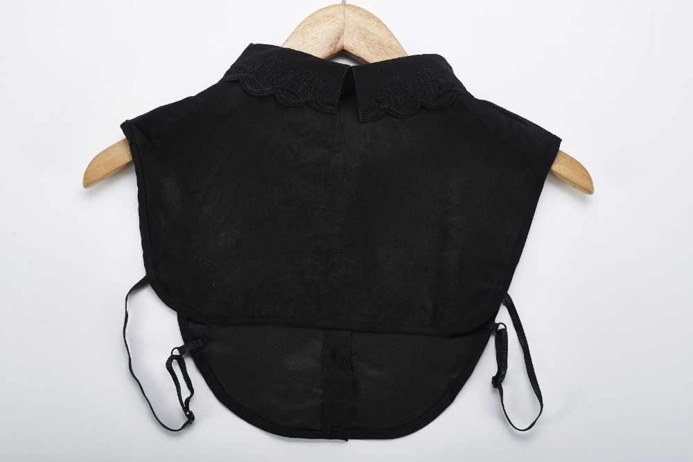 2018 블라우스 분리 거짓 가짜 칼라 여성 넥타이 자수 섬유 스웨터 가짜 칼라 목걸이 셔츠 봉제 직물 칼라