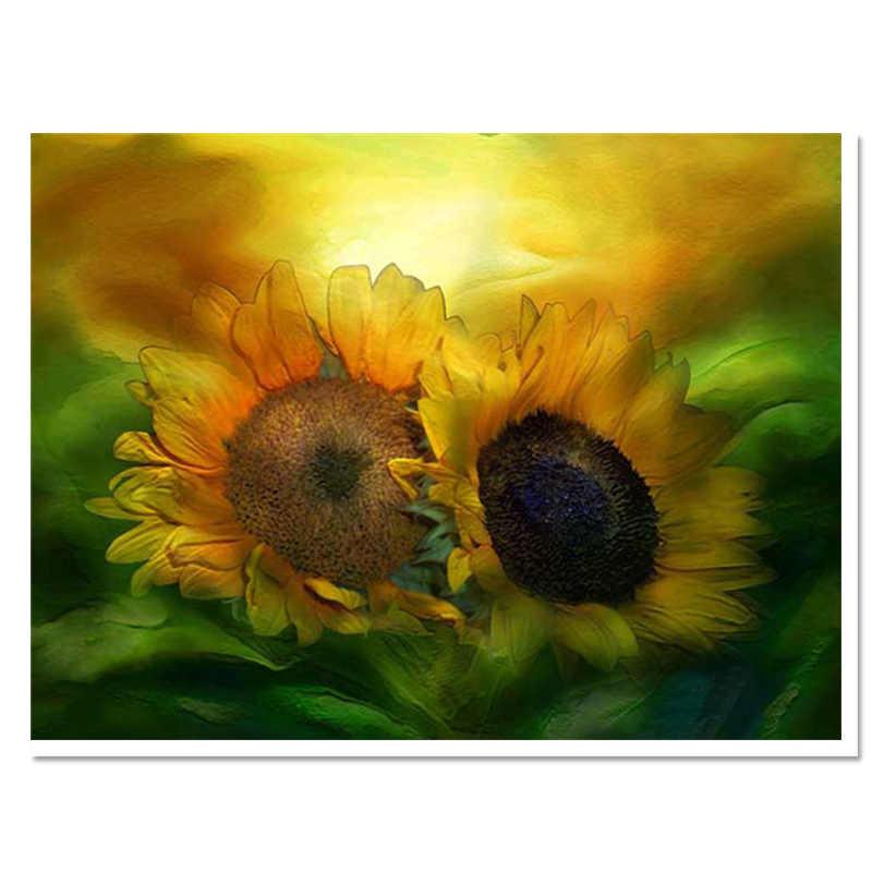Лучшие продажи алмазов вышивка цветочные картины на стене наборы вышивки крестиком ручной работы украшения современного дома