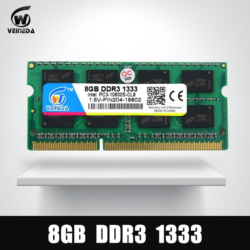 8GB DDR3 Memory Ram ddr3 1333 PC3-10600 Sodimm Ram ddr 3 For Notebook ram 399u