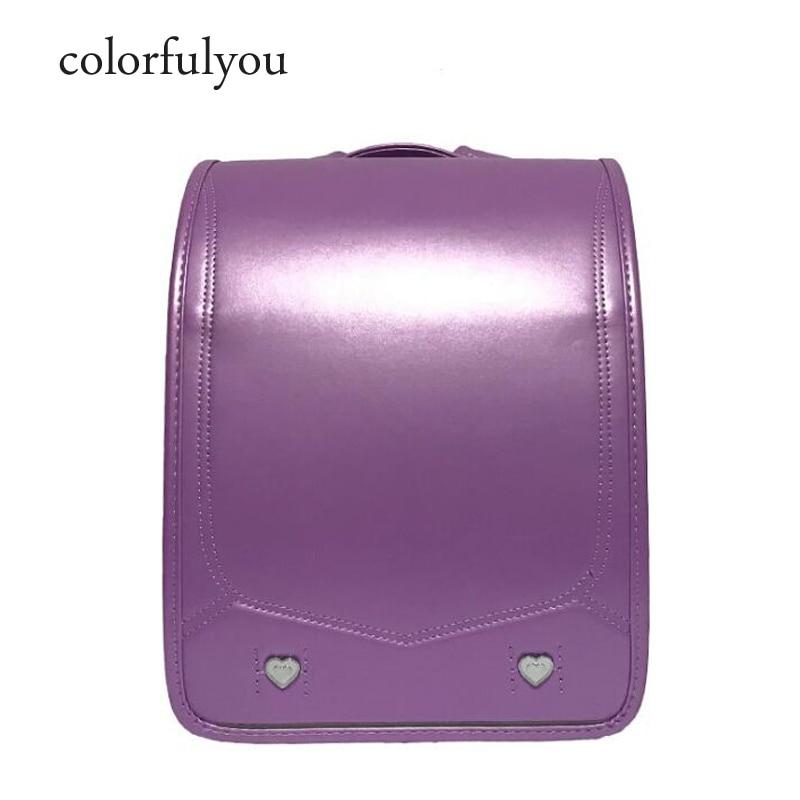 2019 ใหม่ญี่ปุ่น PU โรงเรียนกระเป๋าเด็กกระเป๋าเป้สะพายหลังเด็กหญิงสิทธิบัตรหนังกระเป๋าเป้สะพายหลังความรัก rivets หนังสือเด็กกระเป๋า-ใน กระเป๋านักเรียน จาก สัมภาระและกระเป๋า บน AliExpress - 11.11_สิบเอ็ด สิบเอ็ดวันคนโสด 1