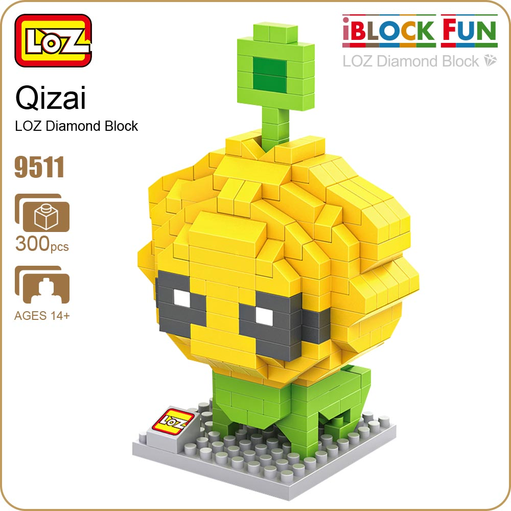 LOZ Diamond Blocks Chang Jiang Qi Hao Qizai Stephen Chow Movies CJ7 Doll Cartoon Alien Figures Toys Building Blocks Bricks 9511 hc9009 1650pcs pikachu cartoon movie series without original box building blocks diamond bricks toys compatible with loz