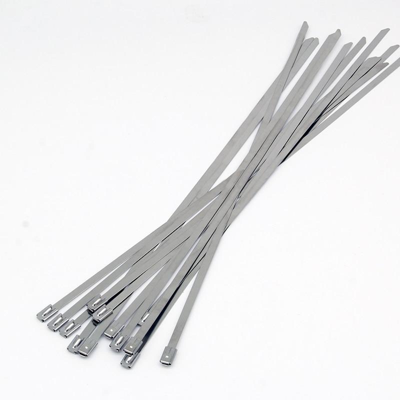 STAINLESS STEEL ZIP TIES STRAPS EXHAUST HEADER WRAP 10 Locking