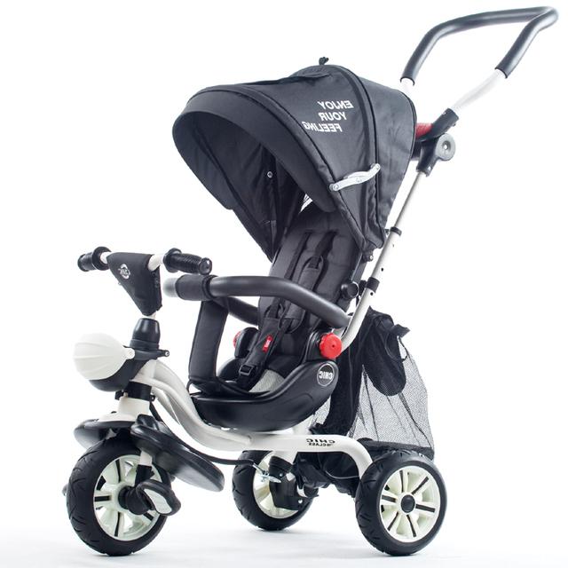 O multifuncional triciclo crianças bebê bicicleta carrinho de criança