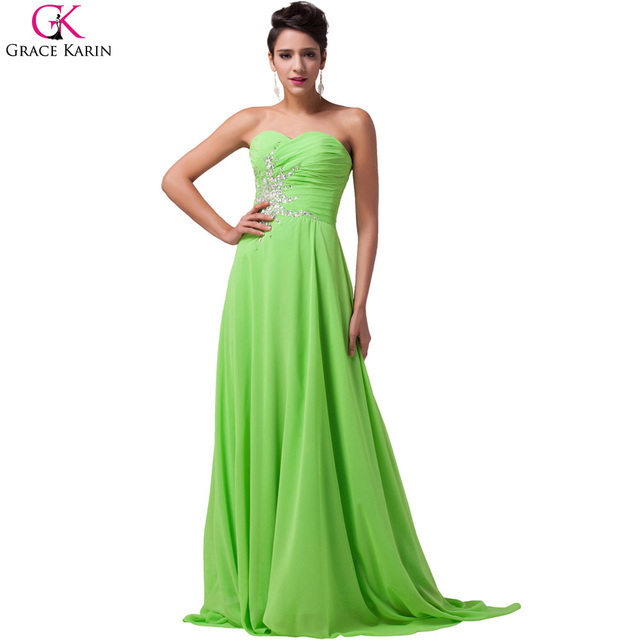 7c310c2a0ae1 Robe Grace Karin Evening Dresses Strapless Lace Chiffon Deep Pink Green  Long Mermaid Dresses Party Dinner Elegant Formal Gowns