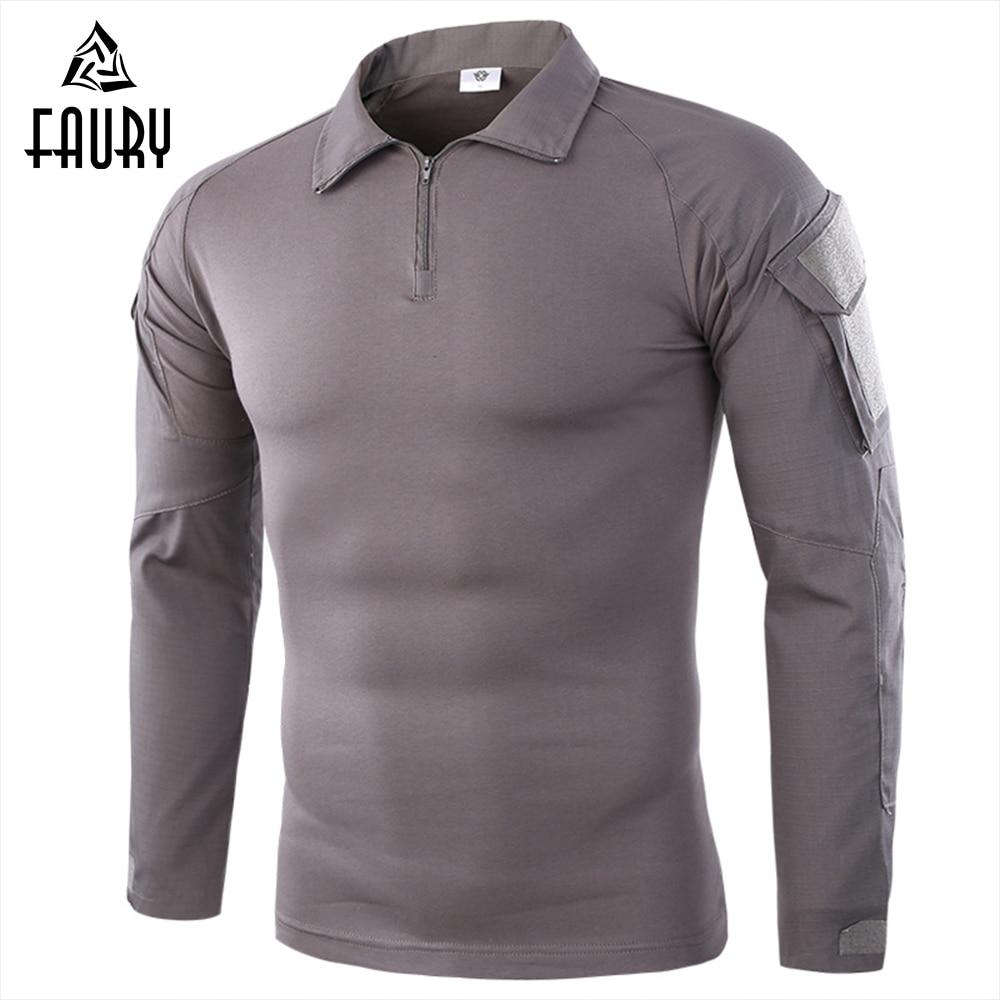 Army Tactical Military Uniform Airsoft Combat-Proven Shirts Rapid Assault Long Sleeve Shirt America Tactica Shirts Frog Clothing