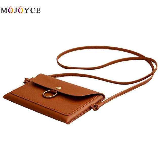 Women PU Leather Crossbody Messenger Bag Girls Small Sling Shoulder Bags Ladies Closure Cover Flap Handbag 4