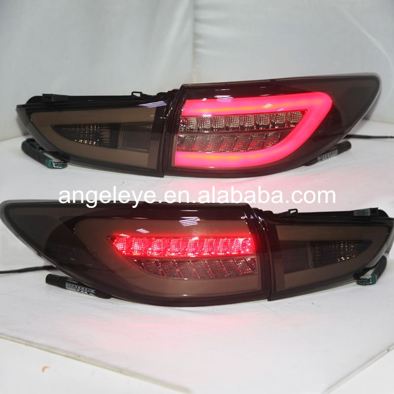 Rear Lights For MAZDA 6 ATENZA  2014-2015 year LED Tail Lamp Smoke Black BW