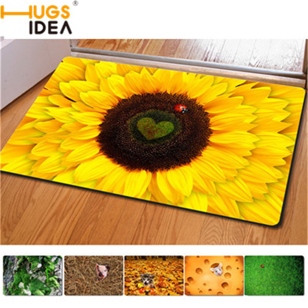 Funny bathroom rugs - Comfortable Style Bath Mats Sunflower Funny Cute Cats Carpets Size 40 60 Cm Rugs Floor