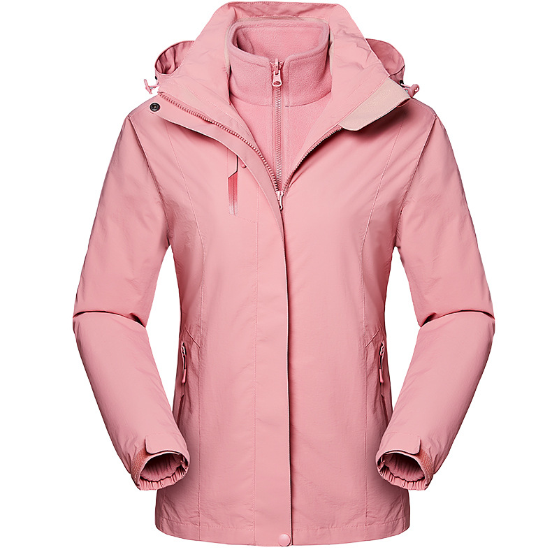 Euro Size Women Winter waterproof Coat Detachable Jacket Hiking Skiing Trekking Climb Camping Fish Outdoor Breathable