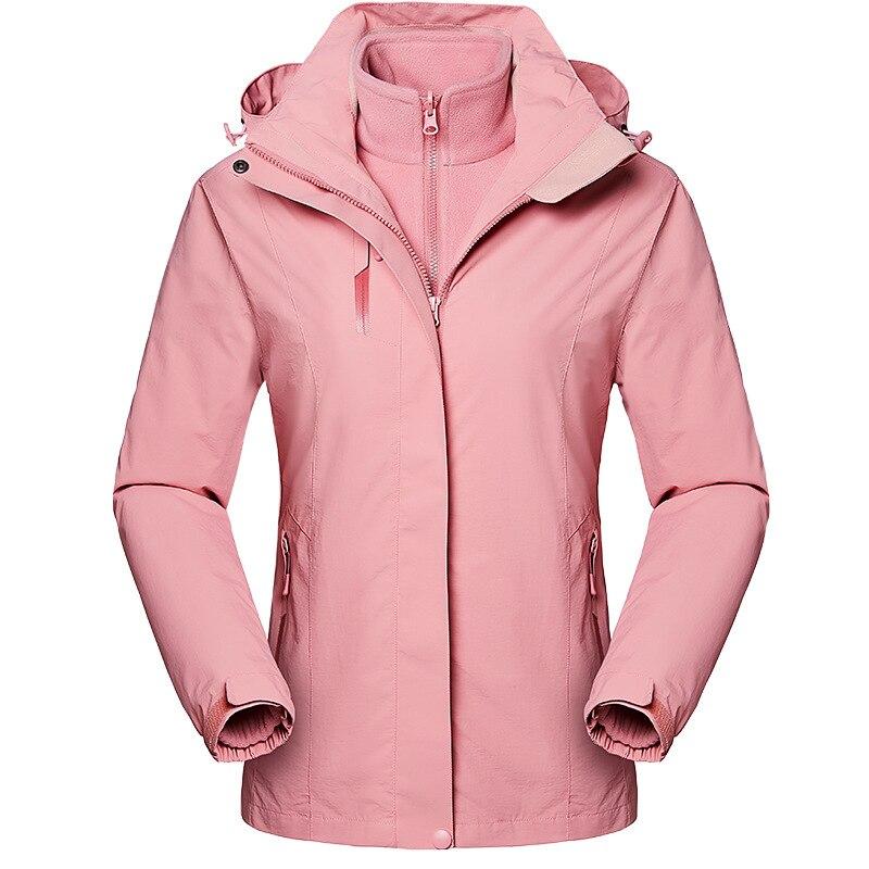 Taille européenne femmes hiver imperméable manteau détachable veste randonnée ski Trekking escalade Camping poissons extérieur respirant Outwear