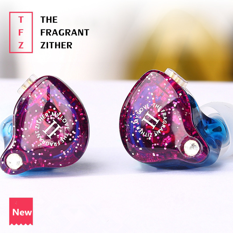 TFZ MY LOVE 2 In Ear Earphone The Fragrant Zither Monitor HiFi Headset Customized 2Pin Interface DJ Earphones ukingmei uk 2050 wireless in ear monitor system sr 2050 iem personal in ear stage monitoring 2 transmitter 2 receivers