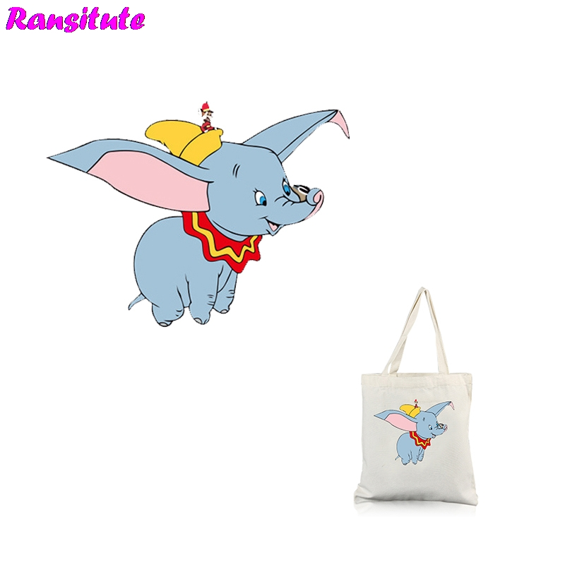 Ransitute R314 ElephantSeries 2 Clothing Printing Thermal Transfer T-shirt Applique Backpack Patch Washable Heat Transfer