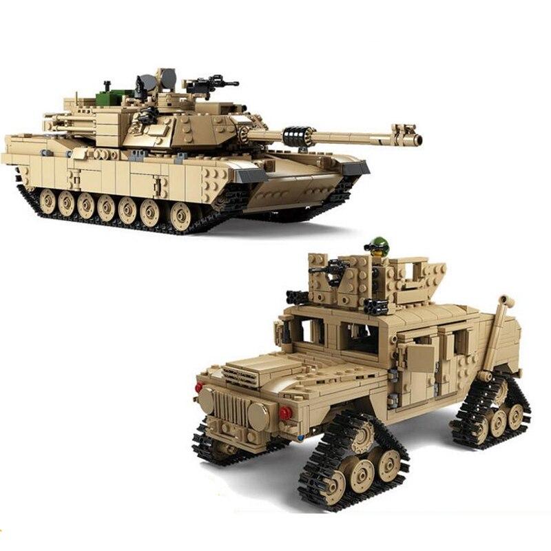 Blocs de construction de réservoir à thème militaire technic M1A2 ABRAMS MBT 1 changement 2 modèles de réservoir de jouets jouets de noël
