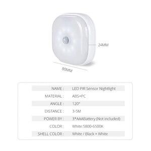 Image 2 - 10LEDs Night Light Infrared PIR Motion Sensor Wireless Light for bedroom Wall Lamp Auto On/Off LED night light