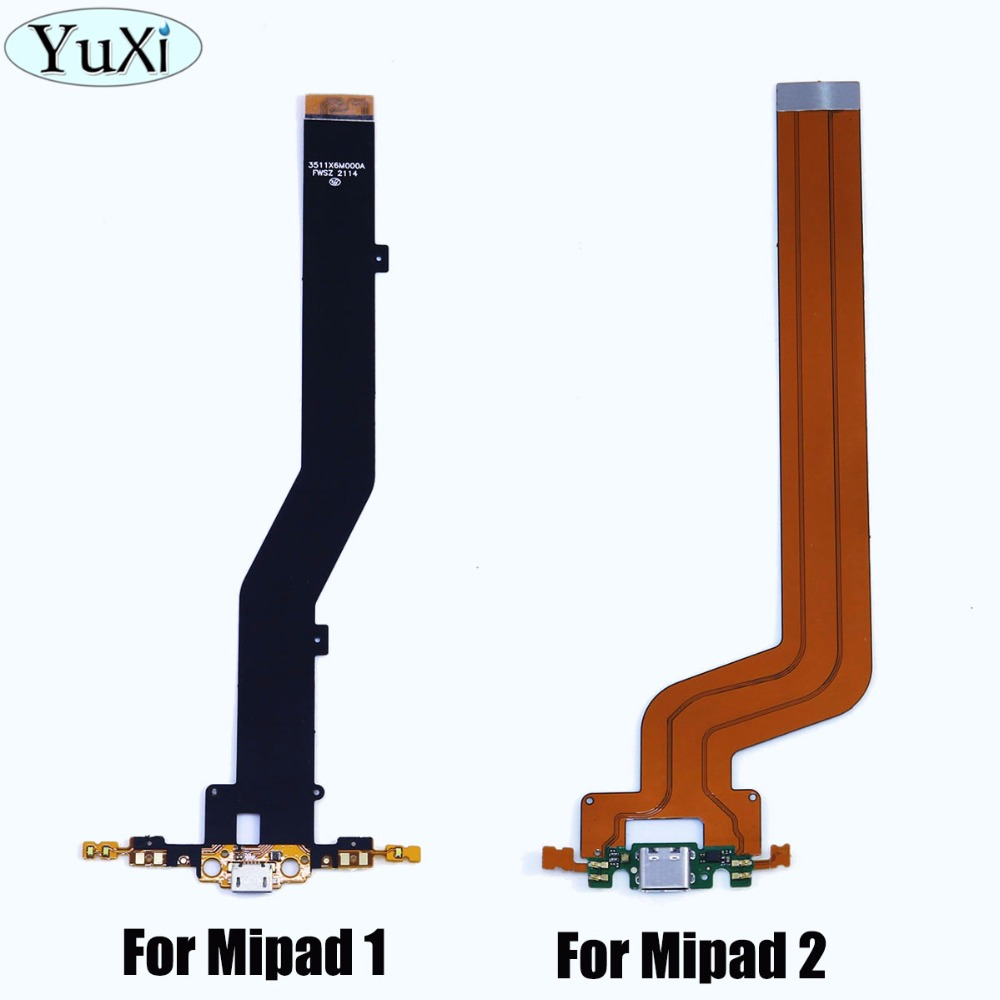 YuXi 1pcs For Xiaomi Mi Pad 1 Micro USB & Mi Pad 2 Type-C Dock Charger Connector Charging Port Flex Cable For Mipad 1 Mipad2
