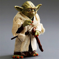 Movie Figure 12cm Star Wars Jedi Knight Master Yoda PVC Action Figure Collection Toys Christmas Gift