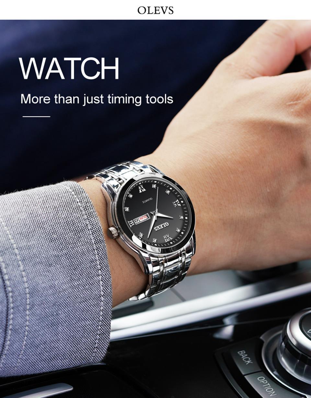 cd37608eb5a Compre OLEVS Relogio Masculino Hombres Relojes De Lujo Reloj 3ATM ...