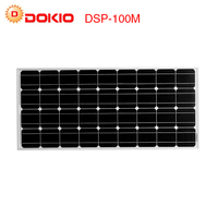 Dokio Brand Solar Panel China 100W Monocrystalline Silicon 18V celulas solares silicio Top quality Solar battery solar charger