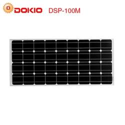 Dokio marca Panel Solar de China 100 W silicio monocristalino 18 V celulas solares silicio de calidad superior de la batería Solar del cargador solar