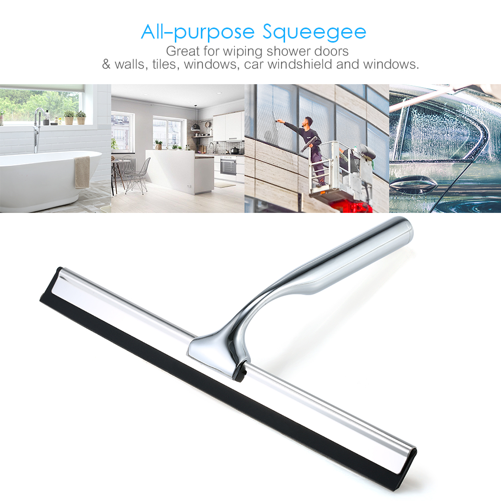 Professional Stainless Steel Squeegee Wiper For Car Glass Window