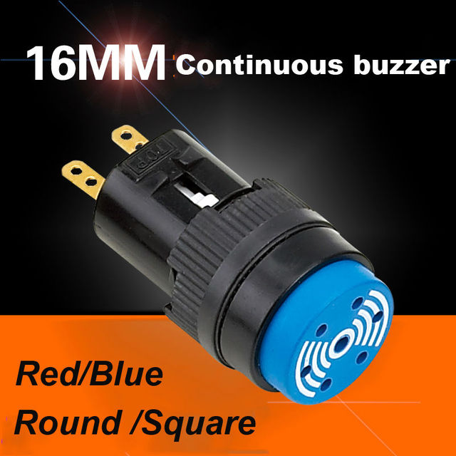 US $11 05 |5pcs shipping free,factory directly,electronic buzzer16mm  continiues sound buzzer switch 24k goldplating pins,RHOS,CE-in Switches  from