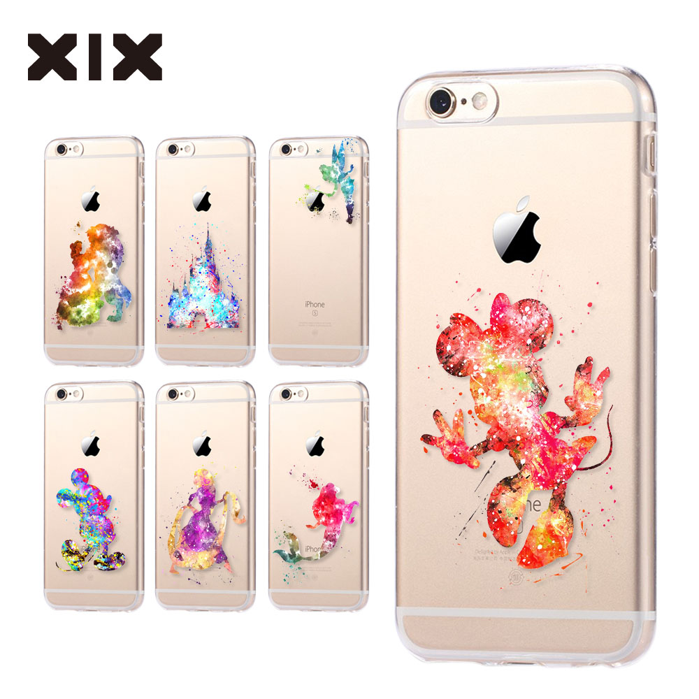 For fundas iPhone 6S case 5 5S 6 6S 7 Plus Minnie soft silicone TPU cover 2016 new arrivals original for coque iPhone 7 case