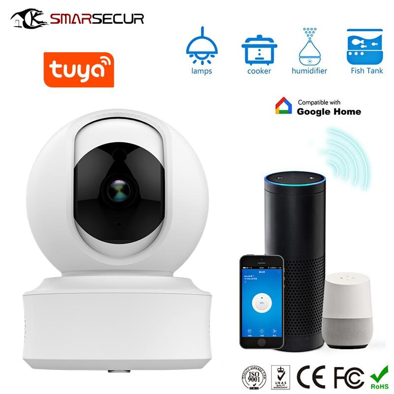 SMARSECUR Auto tracking WiFi IP Camera 1080P Home Security Mini Camera Night Vision Tuya Smart life