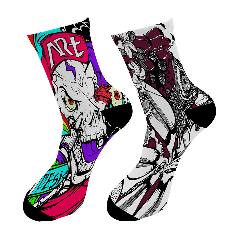 New 3D Printed Brush Paint Crew   Socks   Men Street Graffiti Oil Painting Long   Socks   Personality Pattern Men's Dress Tube   Socks