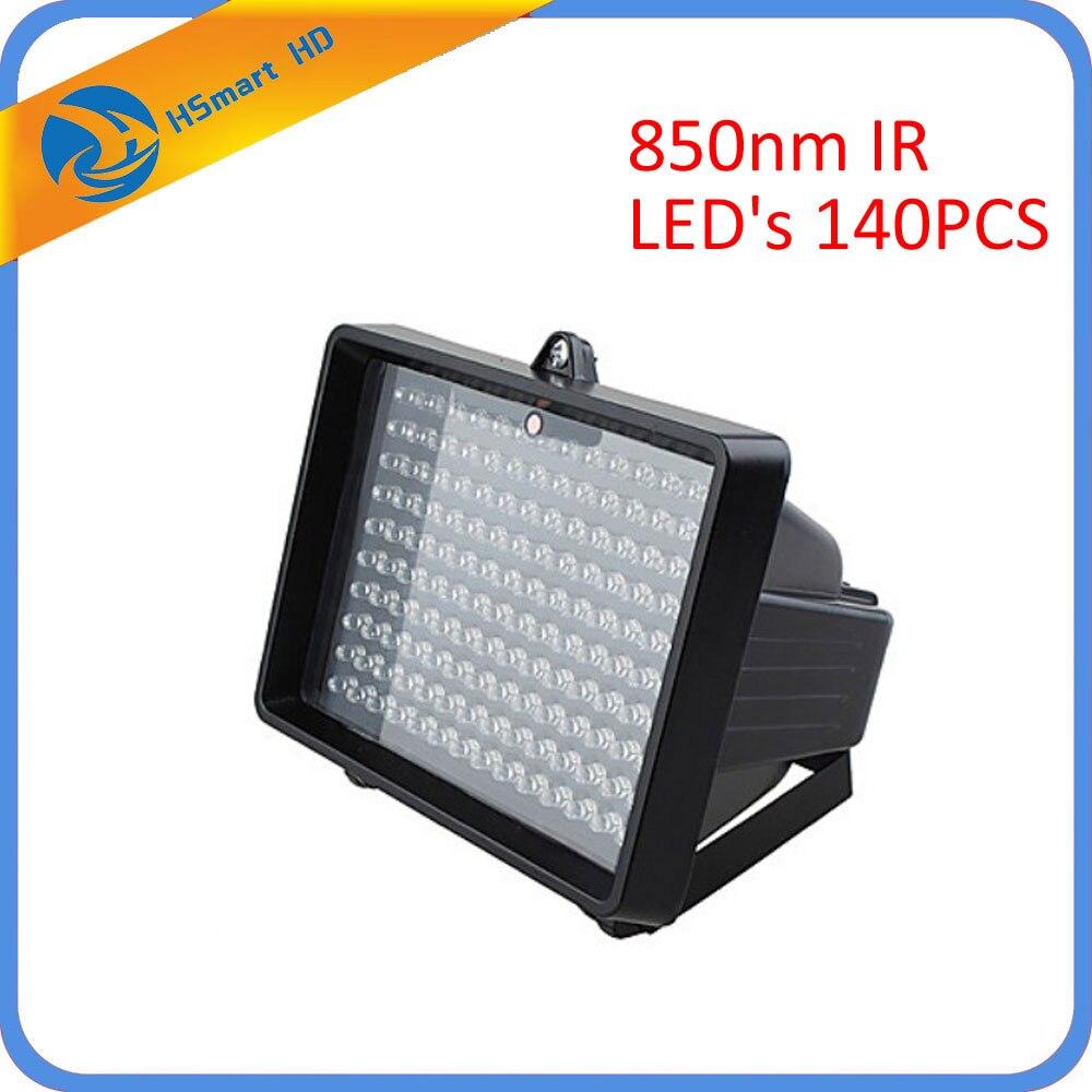 Nouvelle lampe d'iluminateur infrarouge 850nm pour CCTV 850nm IR AHD TVI 1080 P WiFi caméra IR LED (Angle: 60) nombre de 140 pièces de LED