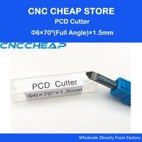 PCD CNC 라우터 비트  6mm 다이아몬드 라우터 비트  70도 돌 화강암 대리석 팁 1.5mm 조각 비트