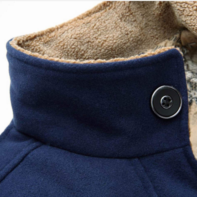 2019 New Autumn and winter Brand Mens Woolen Coat Design Men High Quality Fashion long sleeves Masculino coat Leisure Jackets in Wool amp Blends from Men 39 s Clothing