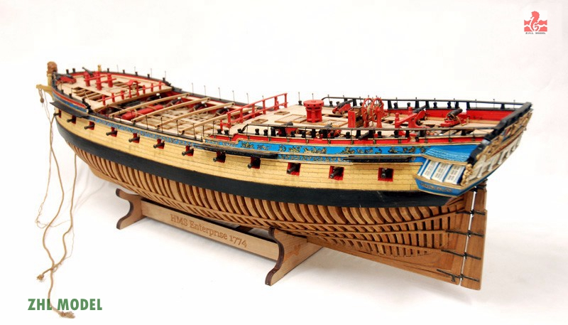 ZHL Enterprise model ship wood ingermanland 1715 model ship wood