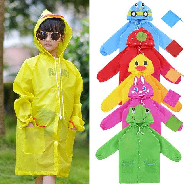 Новинка 2018 года M89C1Pc непромокаемая одежда милые мультяшная модель животных Детский плащ ткань Оксфорд желтый/синий/красный/зеленый/ярко розовый