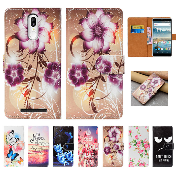 For Senseit T300 Case High Quality Pu Leather 5.7 Print Flip Wallet Case Back Cover Book Case For Senseit T300 Cases