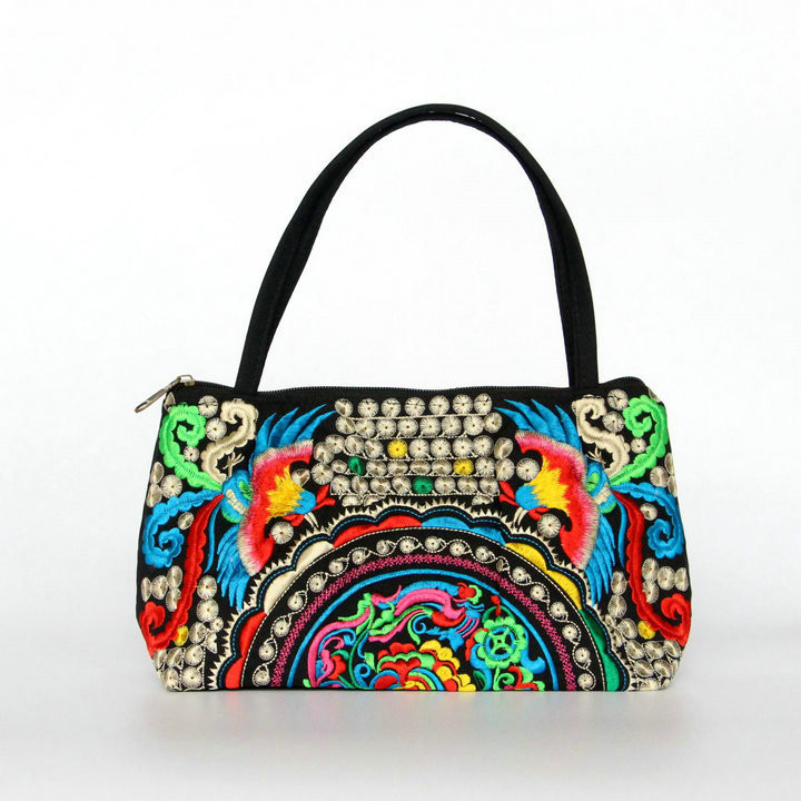 Fashion Multil Vintage Hmong Ethnic Top-Handle Bags!Hot Cute Handbags Fashion Women Carrier Linen Embroidery Handbags Tapestry