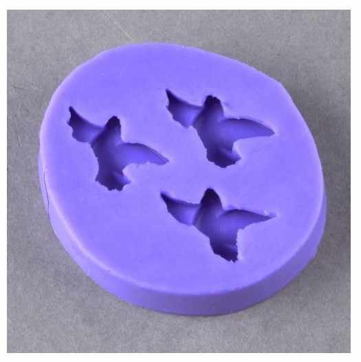 Silicone 3D Cake Chocolate  Soap Pigeon Molds Plunger Cutter