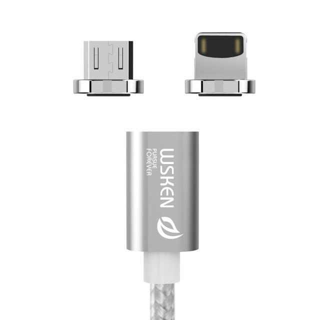 Wsken mini 1 cabo micro usb do metal magnético cabo de carregamento rápido para iphone6 7 samsung s7 s6 edge xiaomi huawei cabo magnético