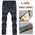 6XL 7XL 8XL Casual Cotton Track Pants Winter Autumn Thermal Velvet Fitness Trousers Slimming Pants Windstopper Men/Male Pan00202