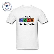 2017 Hipster Basic Tops Funny Periodic Table Bacon Science Geek Chemistry Cotton T Shirt for men