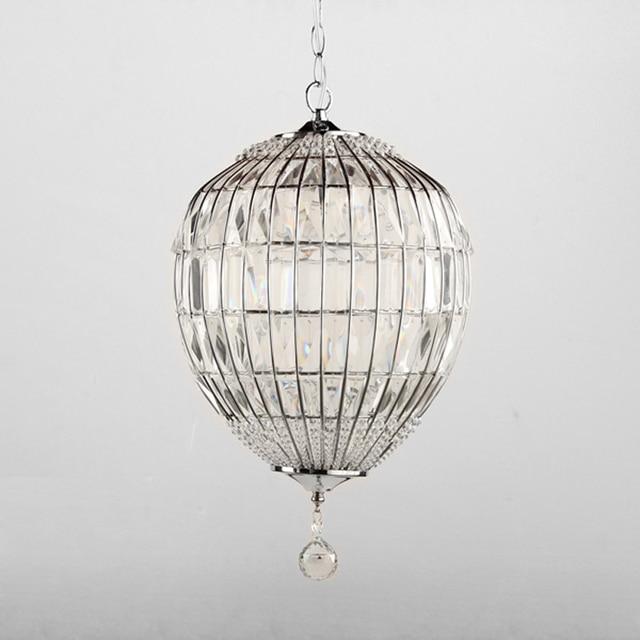 New Modern Single Light Creative Crystal Pendant Lamp Round Ball ...