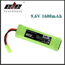 Eleoption 9.6V 1600mAh 8 Cell Stick Flat Ni-MH Battery Pack for Airsoft gun with Mini Tamiya connector plug