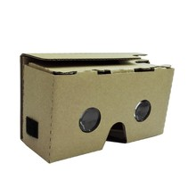 Portable Head-Mounted DIY Google Cardboard V2.0 3D Glasses 3D VR Virtual Reality Video Glasses for Up to 6″ Smart Phones
