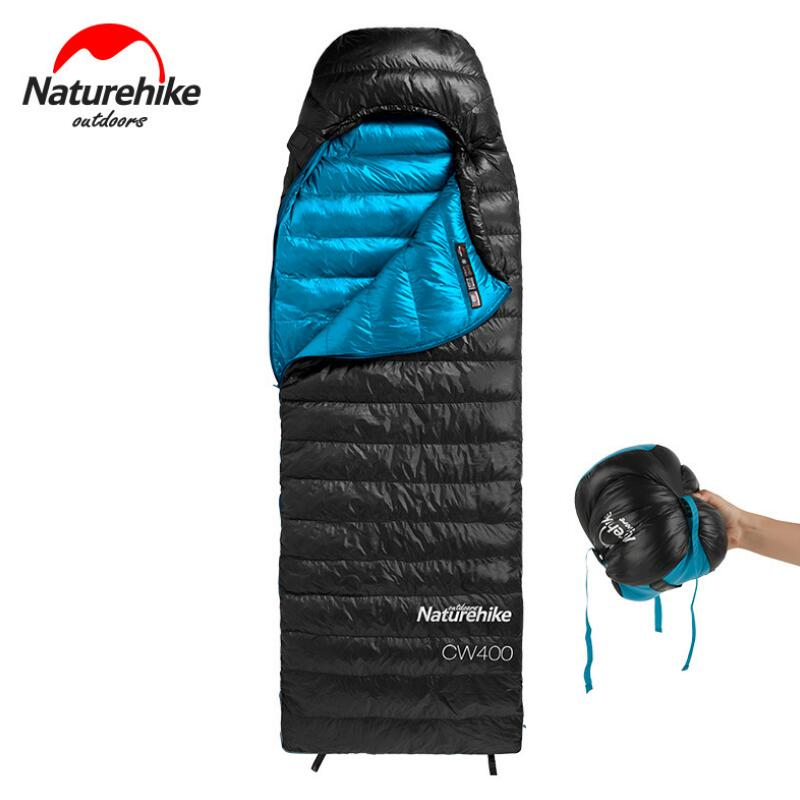 Naturehike Adult Winter Sleeping Bag For Tourism Outdoor Camping Hiking Waterproof Goose Down Sleeping Bag Ultralight NH18C400-D