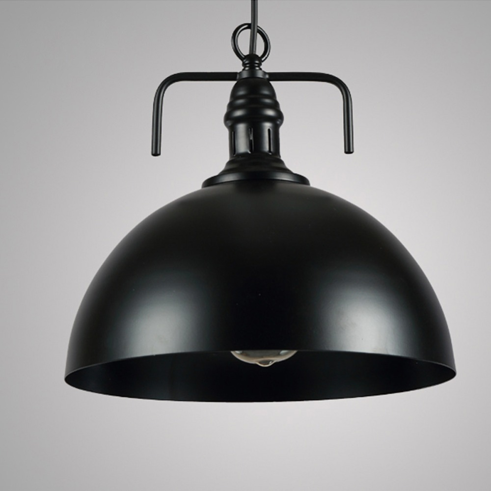 ФОТО LOFT bar creative personality retro American Iron Cafe Restaurant lid Nordic Black White Lid chandelier