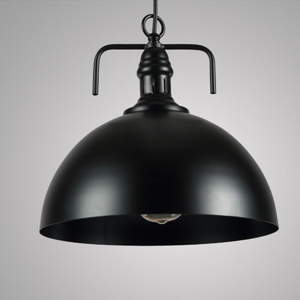 LOFT bar pendant light creative personality retro American Iron Cafe Restaurant lid Nordic Black/White Lid chan delier  цены