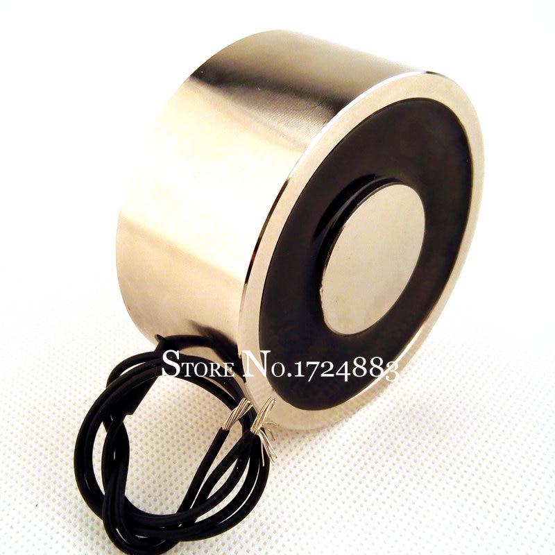 Waterproof Holding Electric Magnet P100/40 AC220V / DC12V 24V 120KG 15W Lift Electromagnet Solenoid