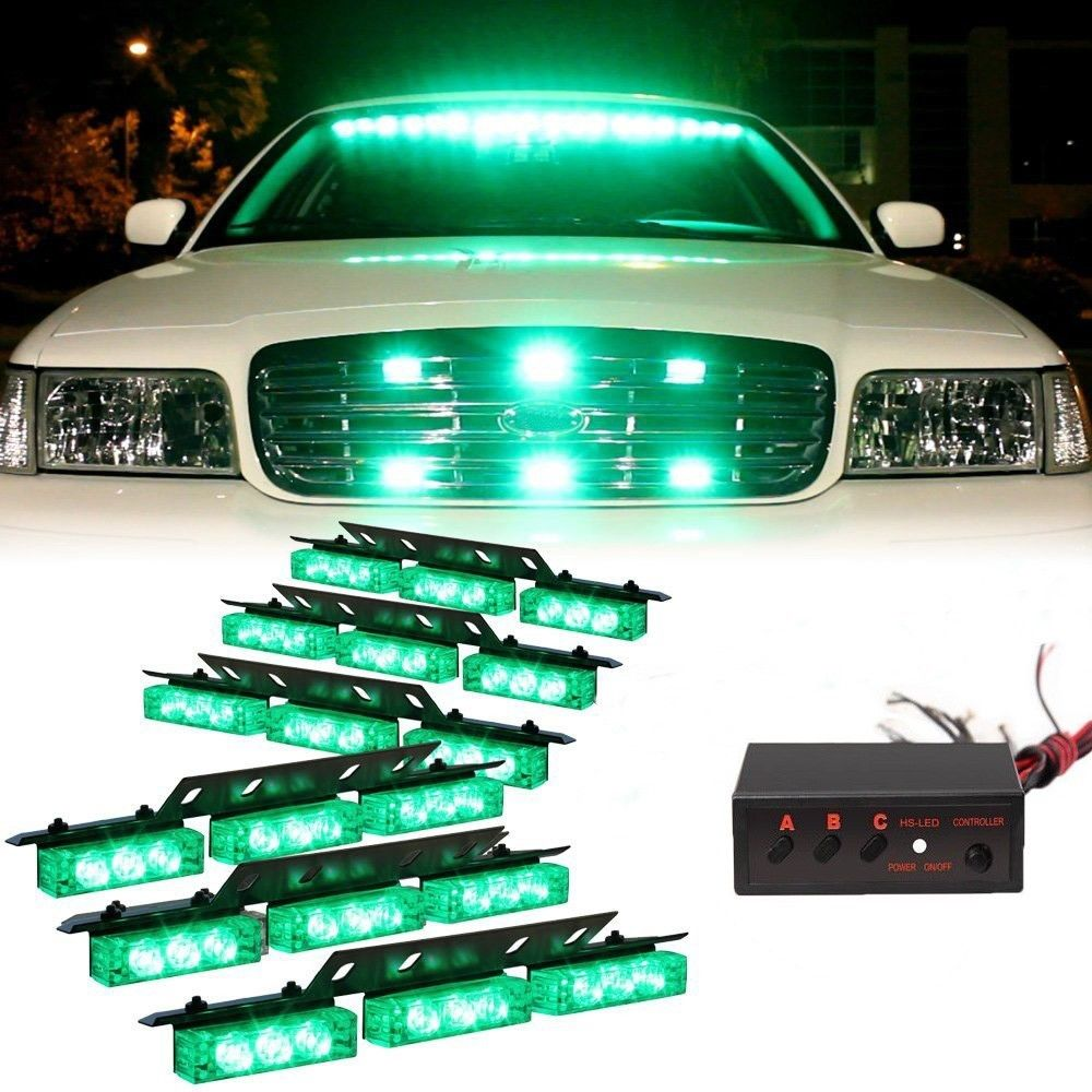 New 12v 54 Led Strobe Lights Car Police Beacon Warning